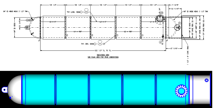 AMPreVA : TechnoSoft Inc  : Projects : Vertical vessel with
