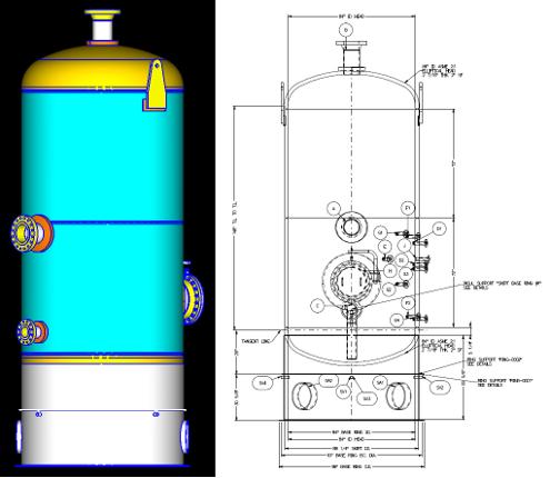 skirt support for pressure vessel